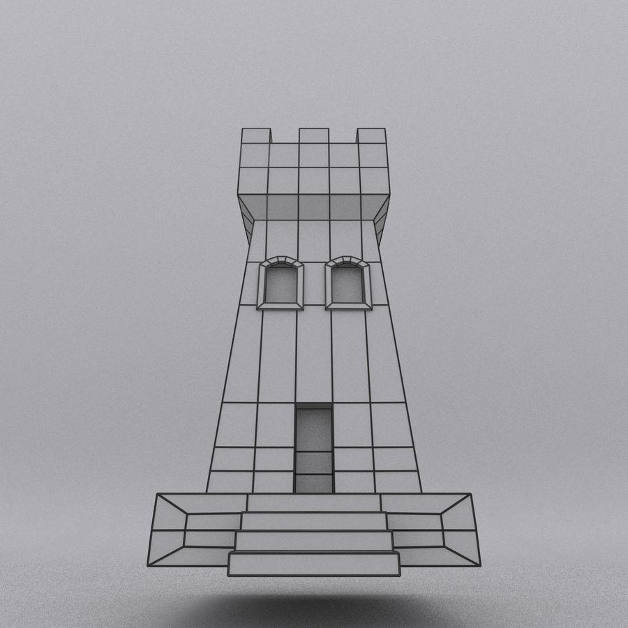 Kasteeltoren royalty-free 3d model - Preview no. 14
