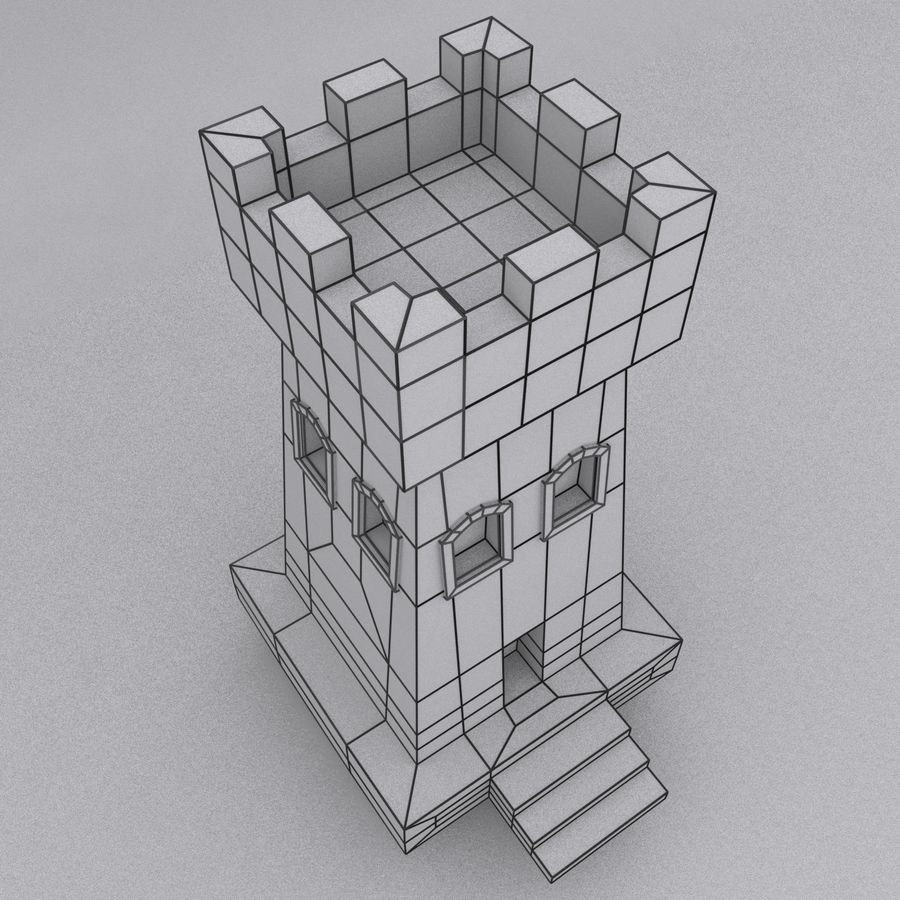 Kasteeltoren royalty-free 3d model - Preview no. 12