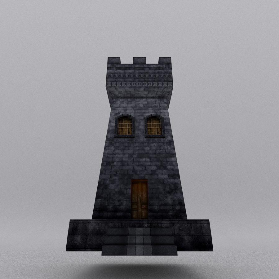Kasteeltoren royalty-free 3d model - Preview no. 11