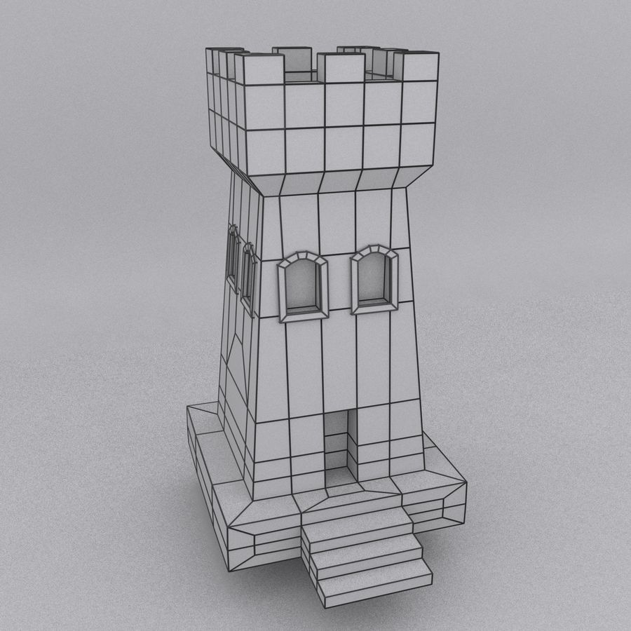 Kasteeltoren royalty-free 3d model - Preview no. 3