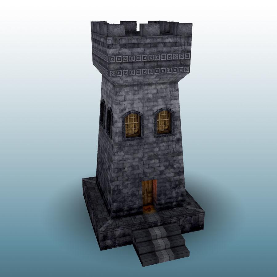 Kasteeltoren royalty-free 3d model - Preview no. 2