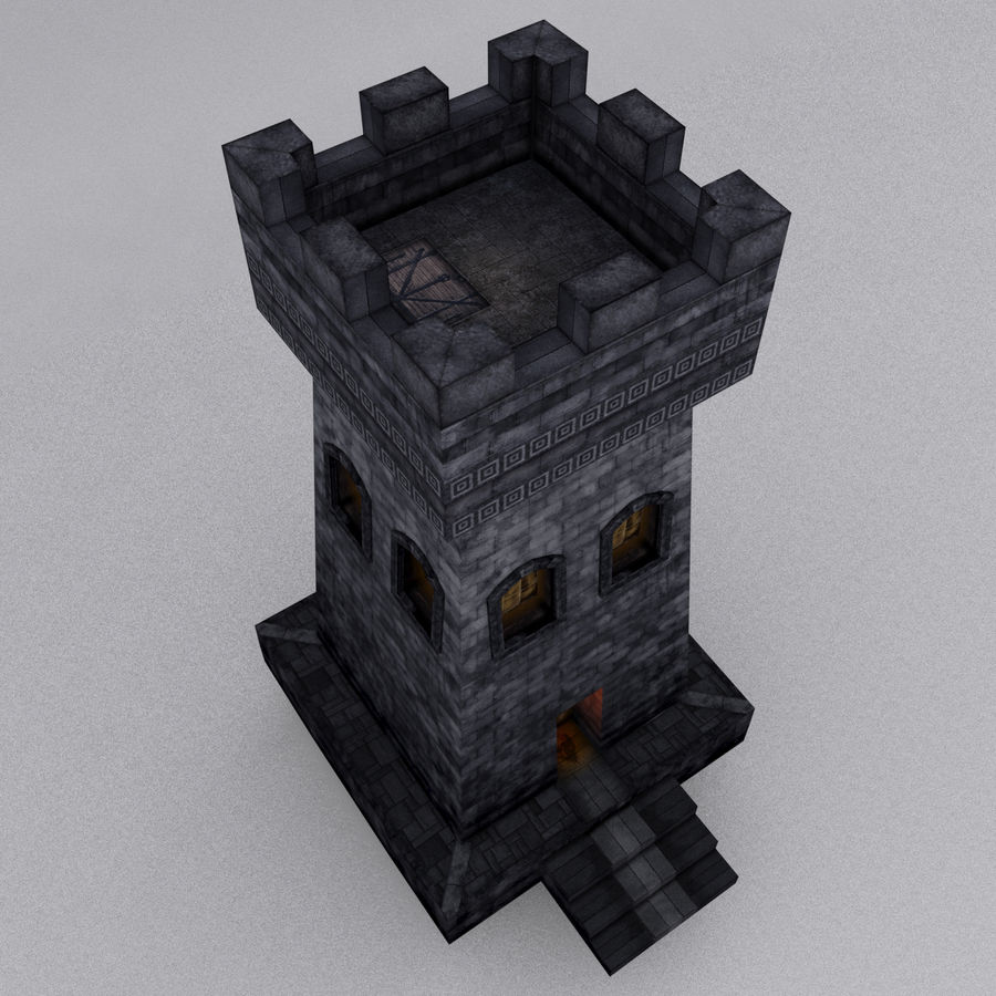 Kasteeltoren royalty-free 3d model - Preview no. 9