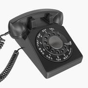 古い電話 3d model