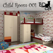 Child Room 001 3d model