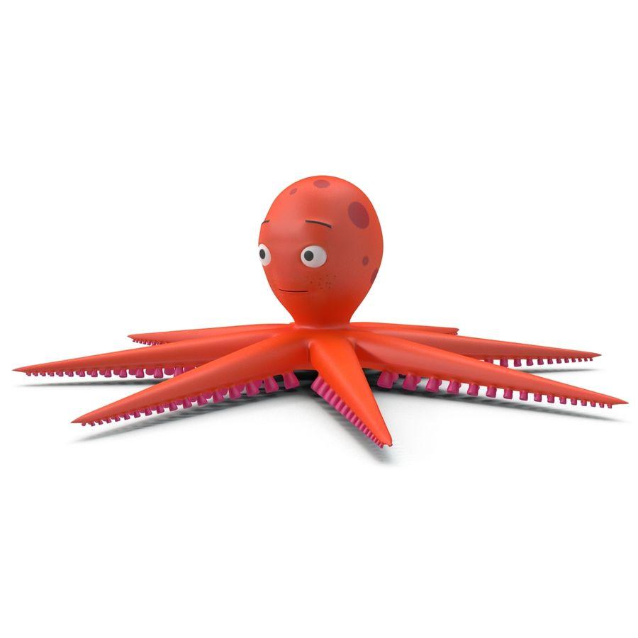Cartoon Octopus royalty-free 3d model - Preview no. 10