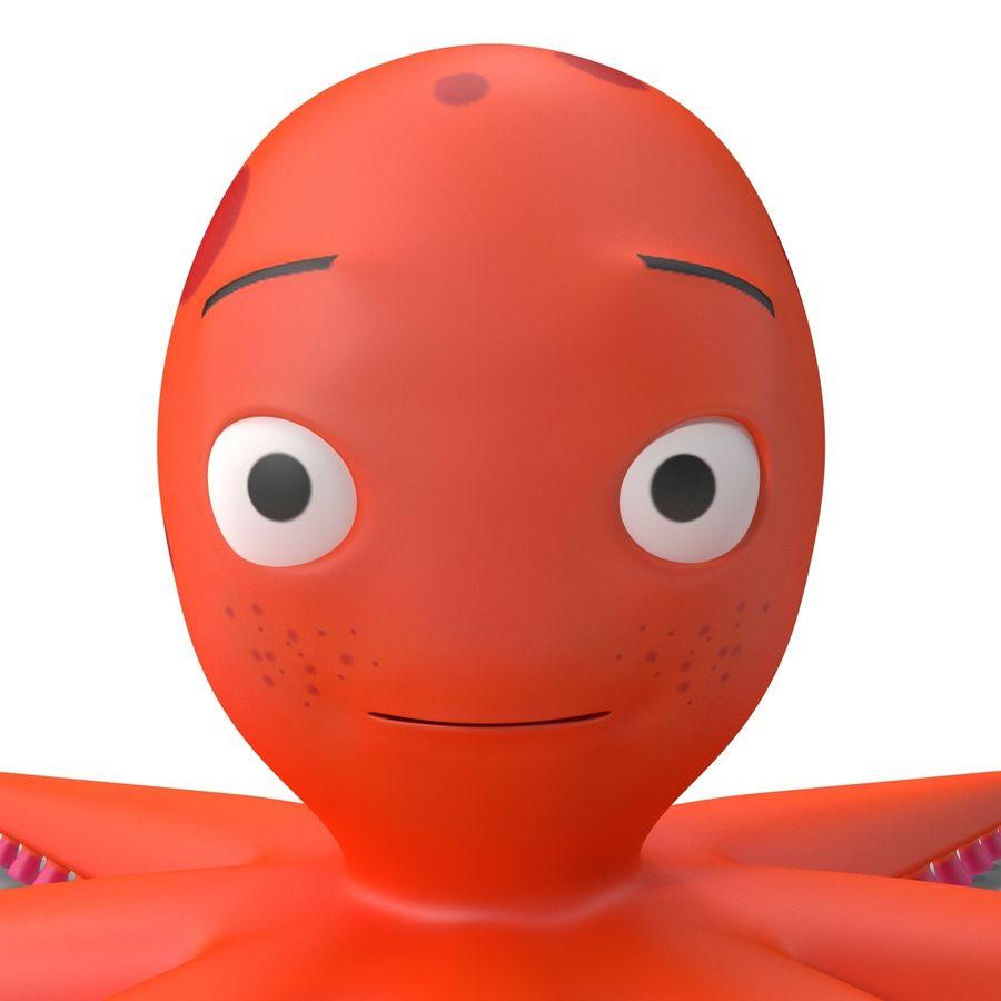 Cartoon Octopus royalty-free 3d model - Preview no. 13