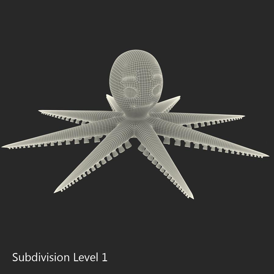 Cartoon Octopus royalty-free 3d model - Preview no. 23