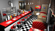Cartoon Diner versie 1 3d model