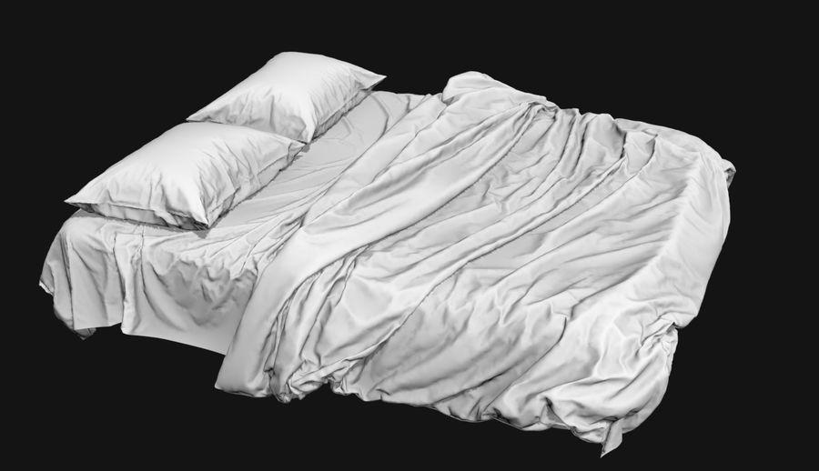 Bed met vouwen hoog poly royalty-free 3d model - Preview no. 6