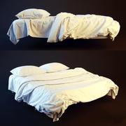 Katlanabilir yüksek poli ile yatak 3d model