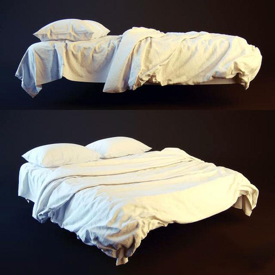 Bed met vouwen hoog poly royalty-free 3d model - Preview no. 1
