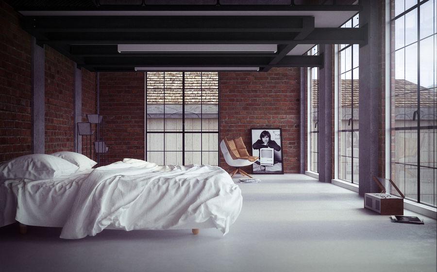Bed met vouwen hoog poly royalty-free 3d model - Preview no. 3