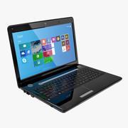 黑色光泽笔记本电脑 3d model
