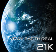 Vray Earth Real 21K 3d model