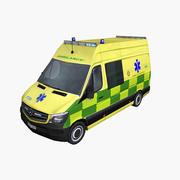 Mercedes Sprinter 2014 Ambulance UK 3d model