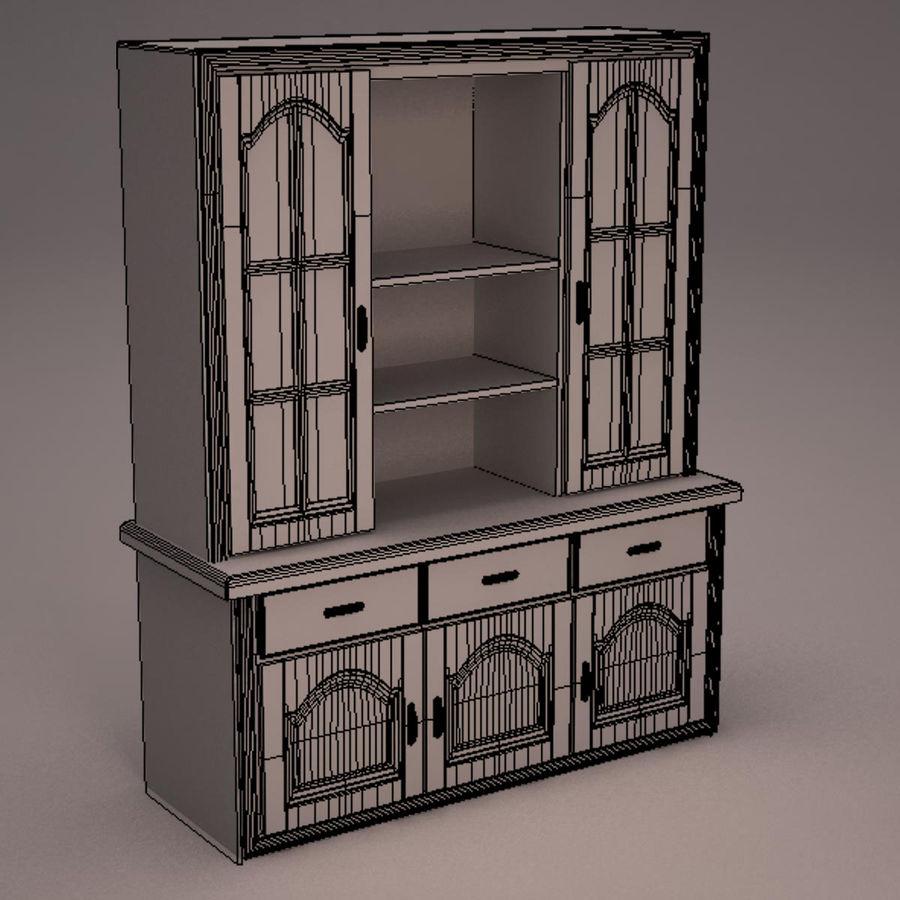 Meubles en bois royalty-free 3d model - Preview no. 21
