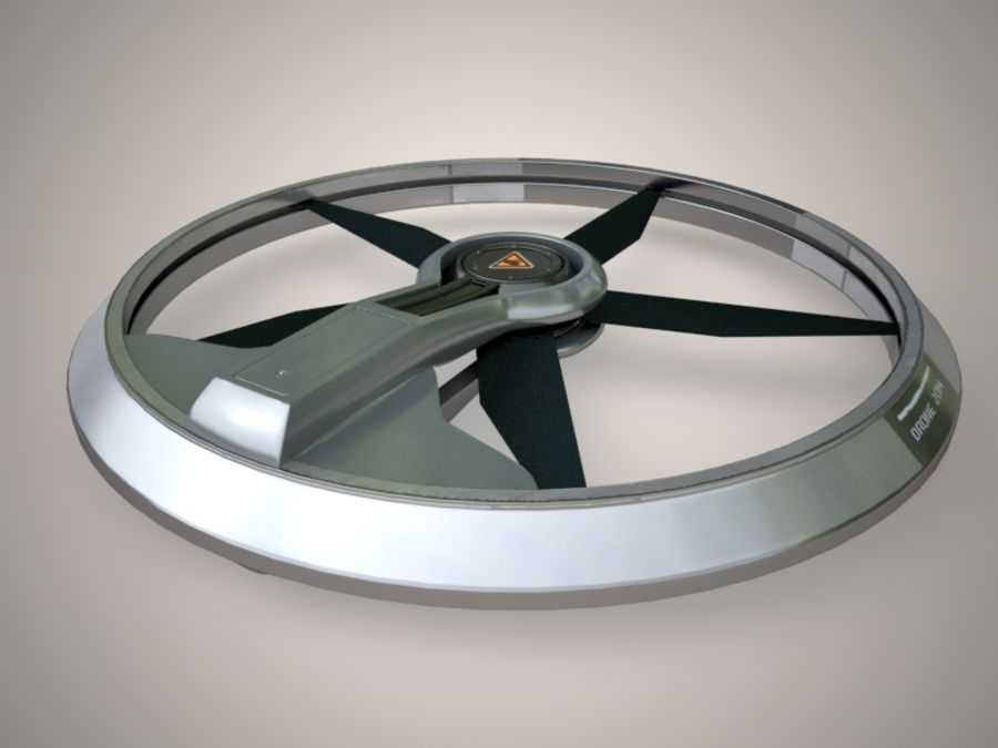 drone 2014 royalty-free 3d model - Preview no. 3