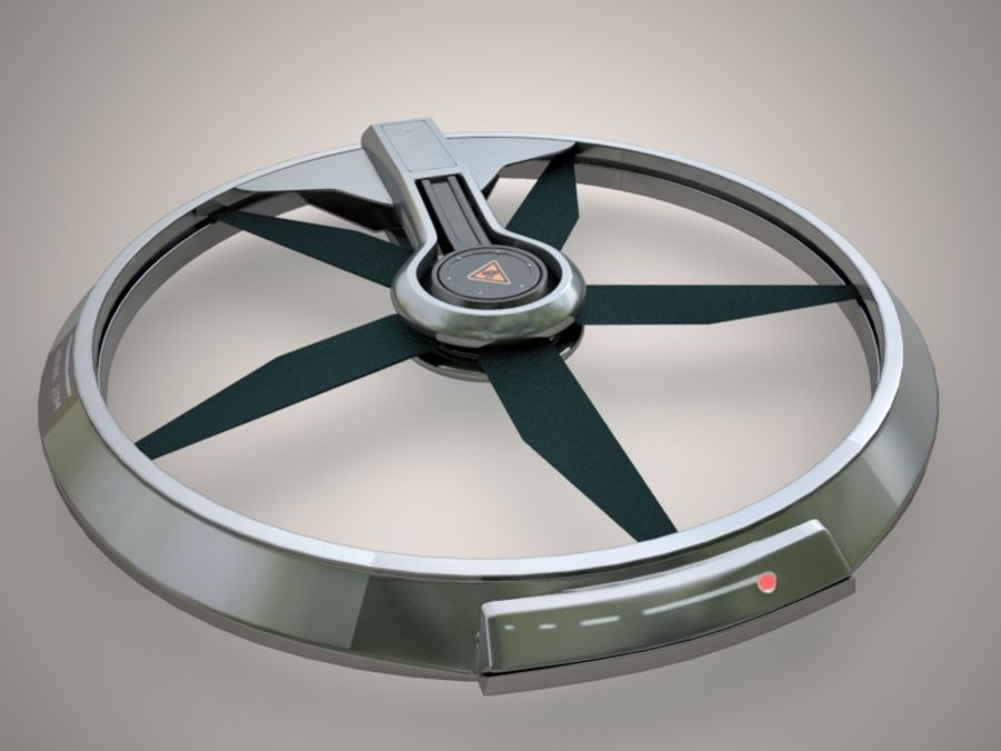 drone 2014 royalty-free 3d model - Preview no. 2