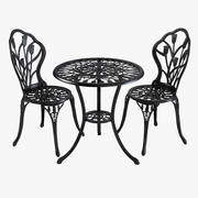 Iron Dining Table & Chair Set 3d model