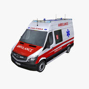 Mercedes Sprinter 2014 Facelift Ambulance 3d model