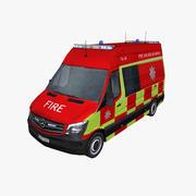 メルセデススプリンター2014年英国救急車 3d model