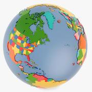 Geopolitical Globe e Stati Uniti 3d model