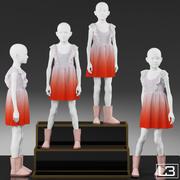 Vitrine Girl Mannequin 001 3d model