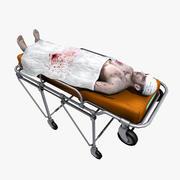 Paziente sulla barella 3d model