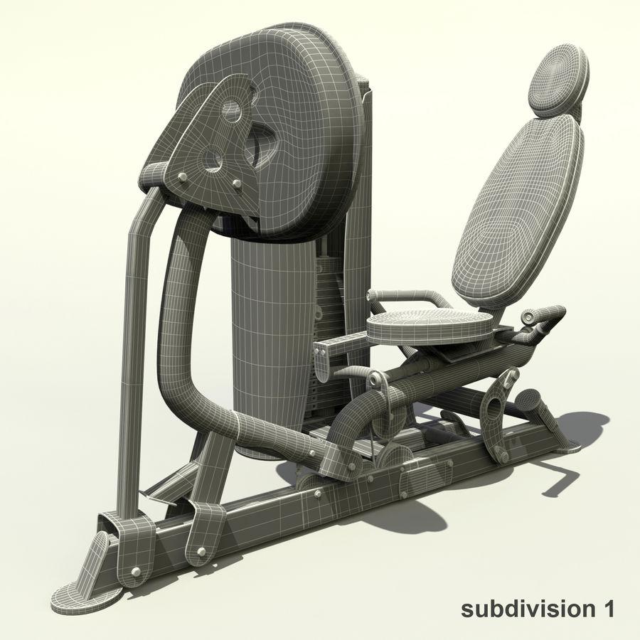 Beinpresse im Fitnessstudio royalty-free 3d model - Preview no. 13