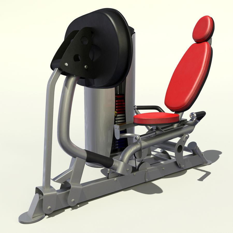 Beinpresse im Fitnessstudio royalty-free 3d model - Preview no. 11