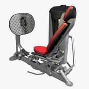 Beinpresse im Fitnessstudio 3d model