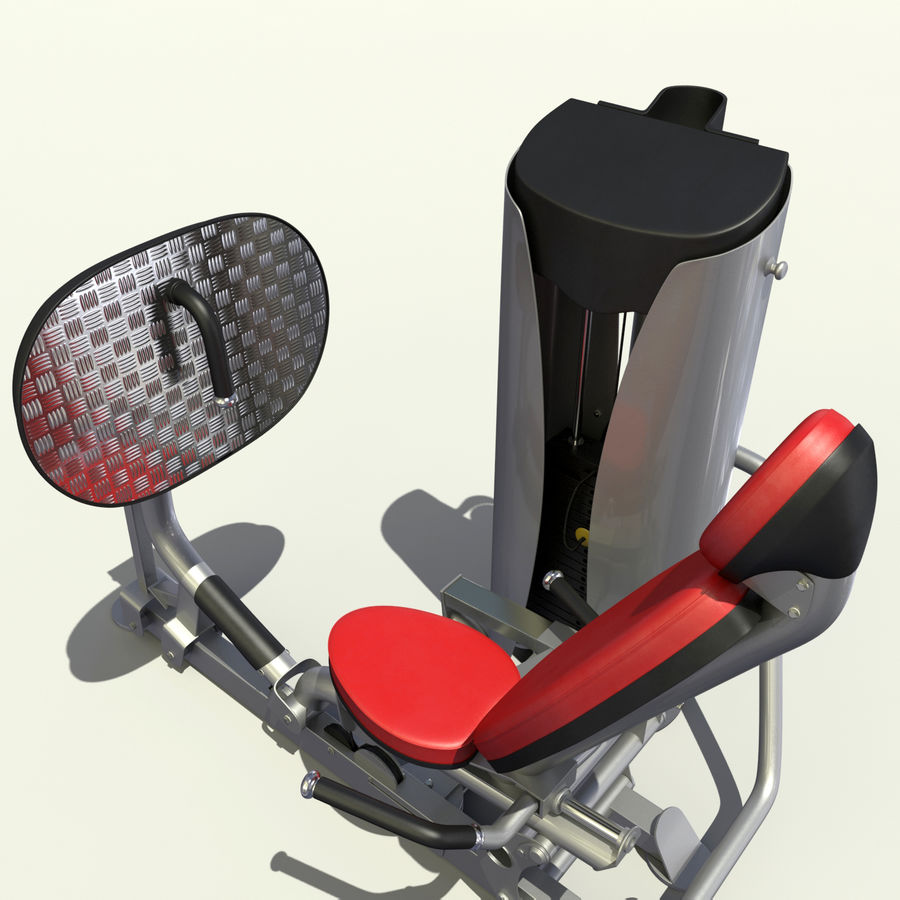 Beinpresse im Fitnessstudio royalty-free 3d model - Preview no. 4