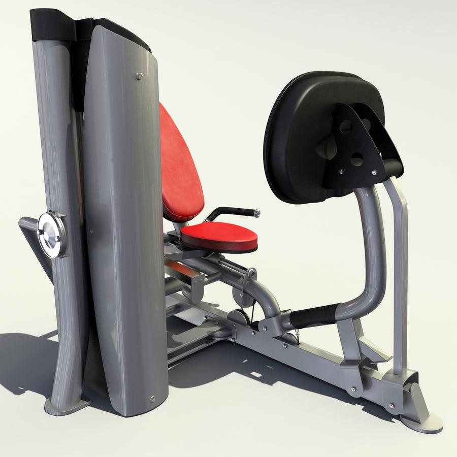 Beinpresse im Fitnessstudio royalty-free 3d model - Preview no. 14