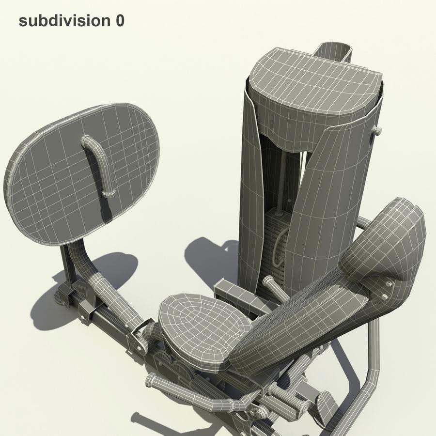 Beinpresse im Fitnessstudio royalty-free 3d model - Preview no. 9