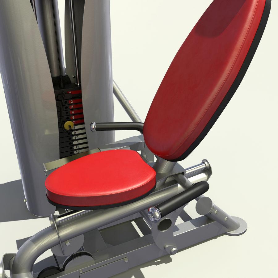 Beinpresse im Fitnessstudio royalty-free 3d model - Preview no. 1