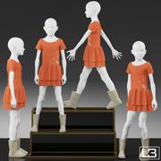 Vitrine Girl Mannequin 002 3d model