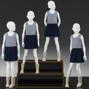 Vitrine Girl Mannequin 003 3d model