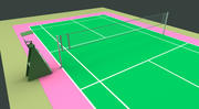 Quadra de badminton 3d model