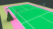 Campo da badminton 3d model