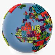 Weltkugel-Wörter 3d model