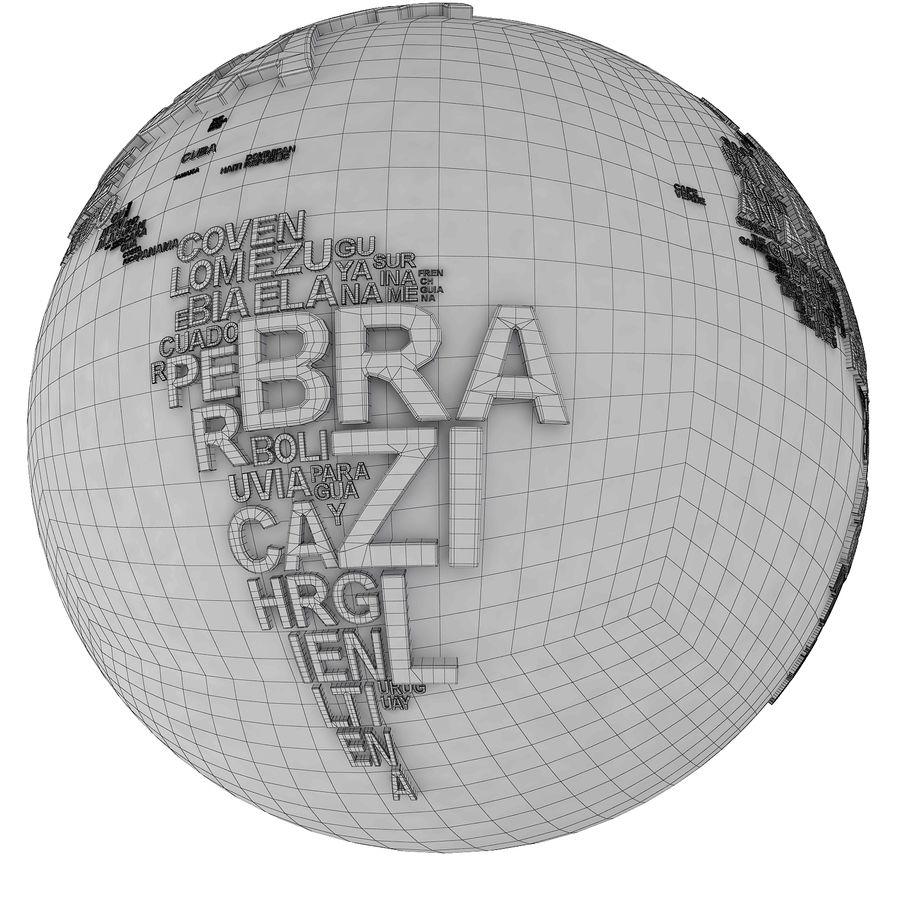 Słowa świata royalty-free 3d model - Preview no. 19