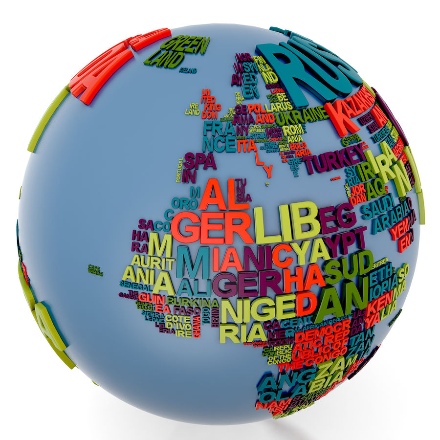 Słowa świata royalty-free 3d model - Preview no. 3