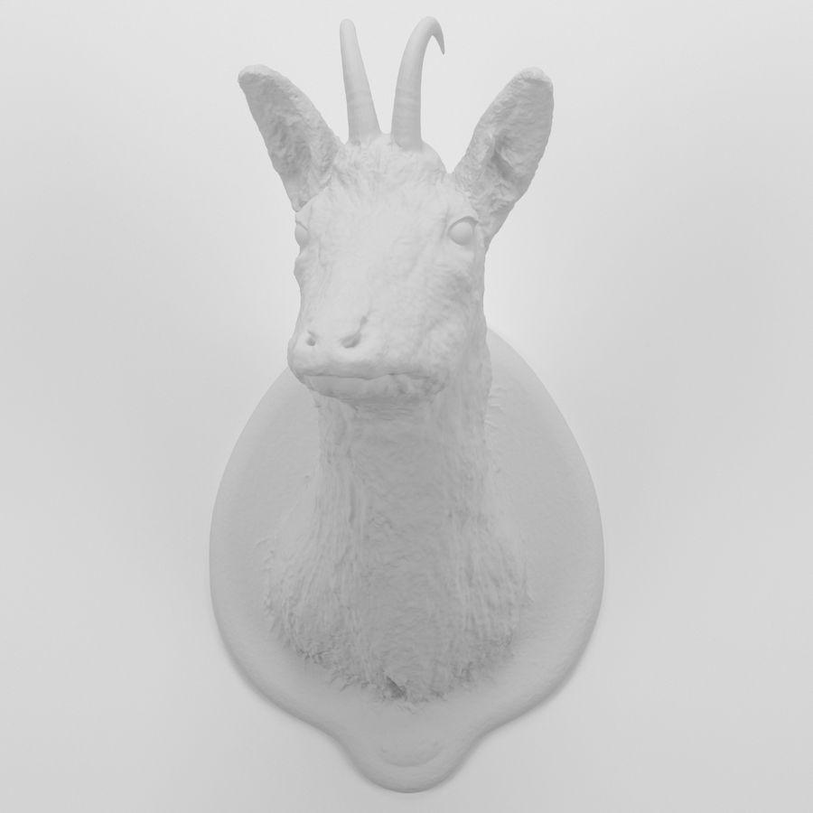 Taxidermie 01. Tête de chamois royalty-free 3d model - Preview no. 1