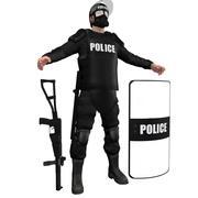 진압 경찰 H1 3d model