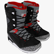 Botas de snowboard Nike Zoom Kaiju modelo 3d