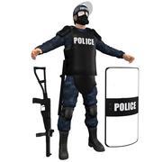 진압 경찰 H5 3d model