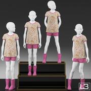 Vitrine Girl Mannequin 004 3d model
