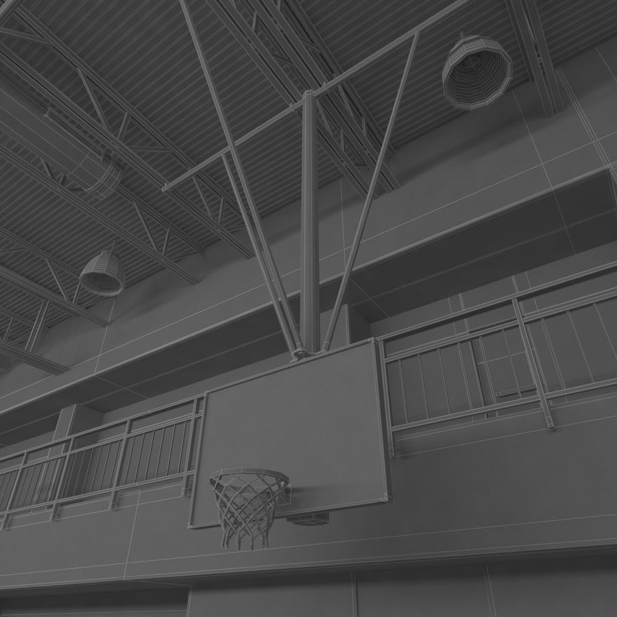 Academia de basquete royalty-free 3d model - Preview no. 24