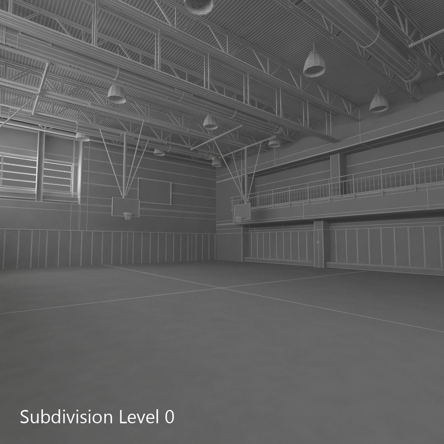 Academia de basquete royalty-free 3d model - Preview no. 29