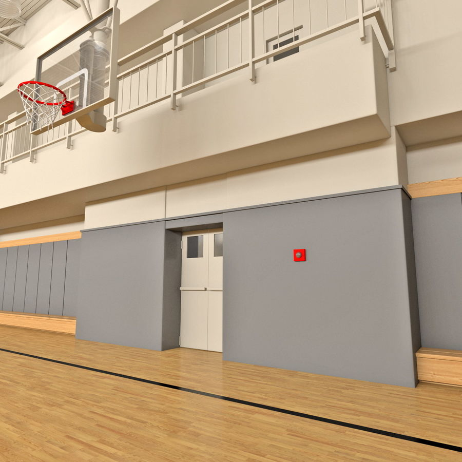 Academia de basquete royalty-free 3d model - Preview no. 15